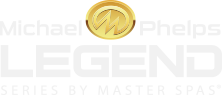 Michael Phelps Legend Series Hot Tubs logo.